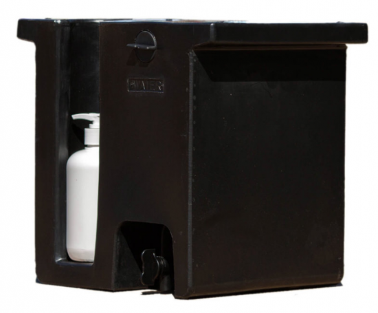 15 Litre Plastic Water Tank (with Soap Bottle)