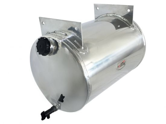 50 Litre Polished Aluminium Water Tank (with welded on top brackets)